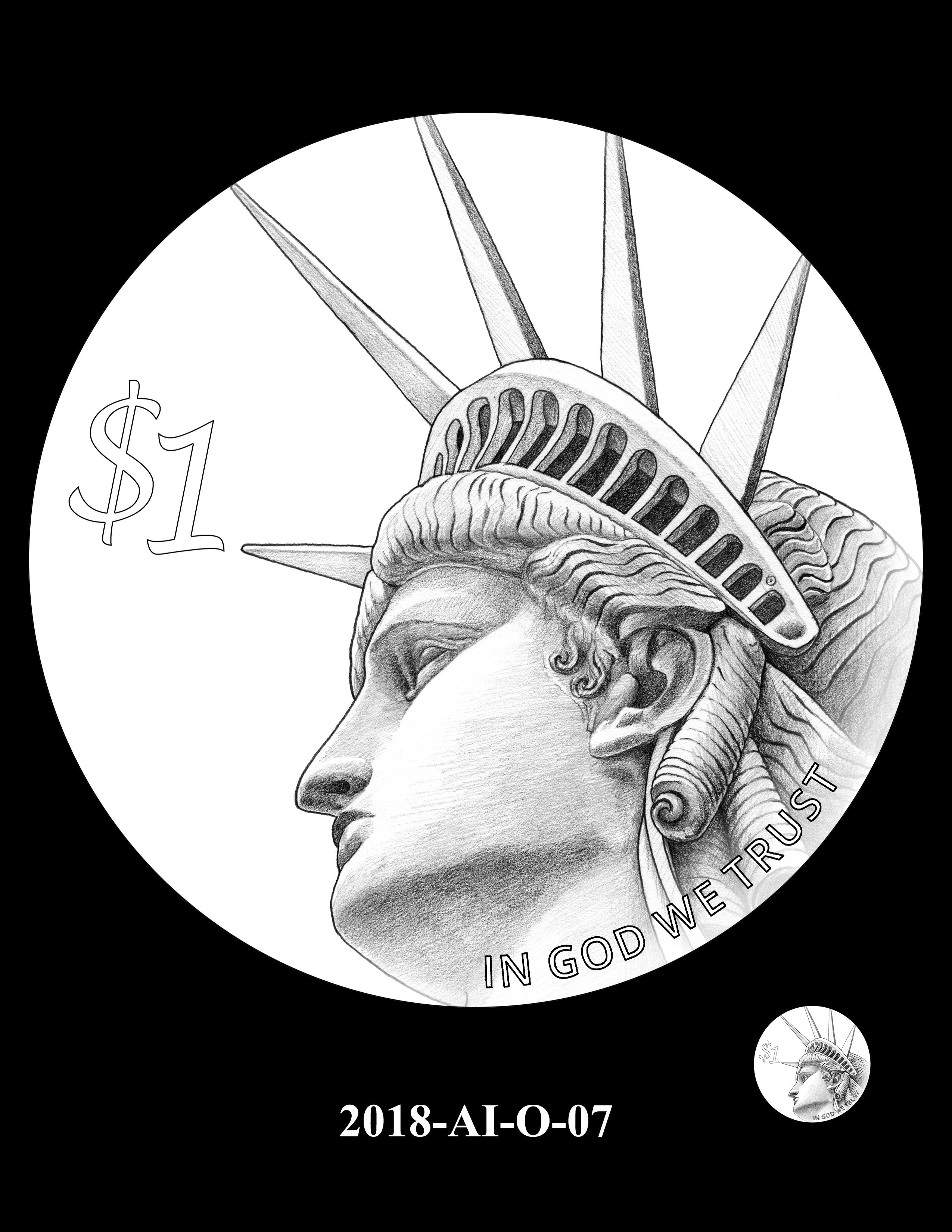 2018-AI-O-07 -- 2018 American Innovation $1 Coin