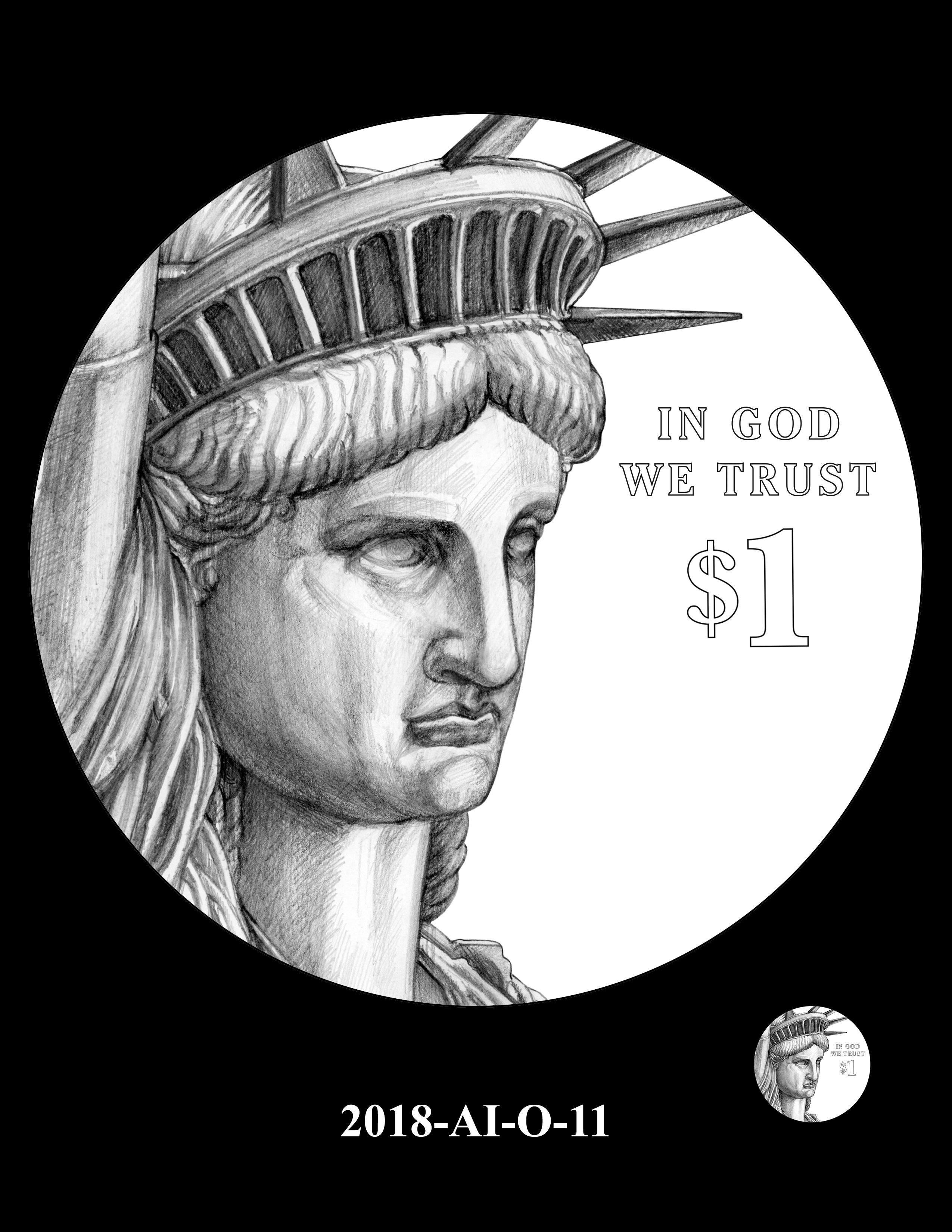 2018-AI-O-11 -- 2018 American Innovation $1 Coin
