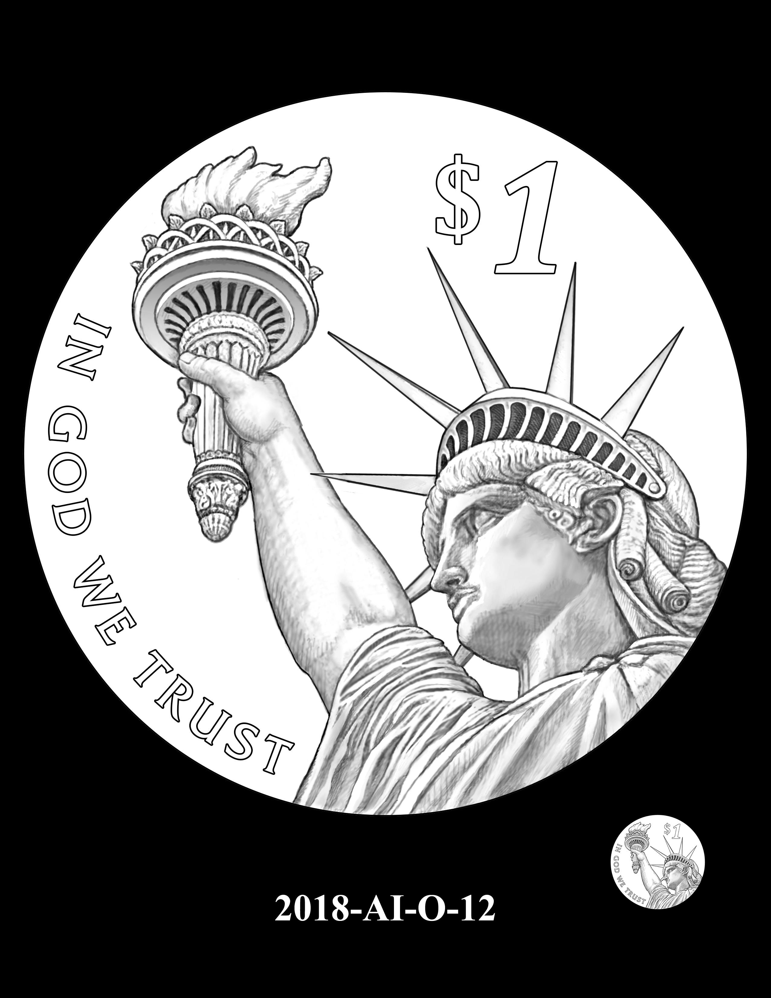2018-AI-O-12 -- 2018 American Innovation $1 Coin