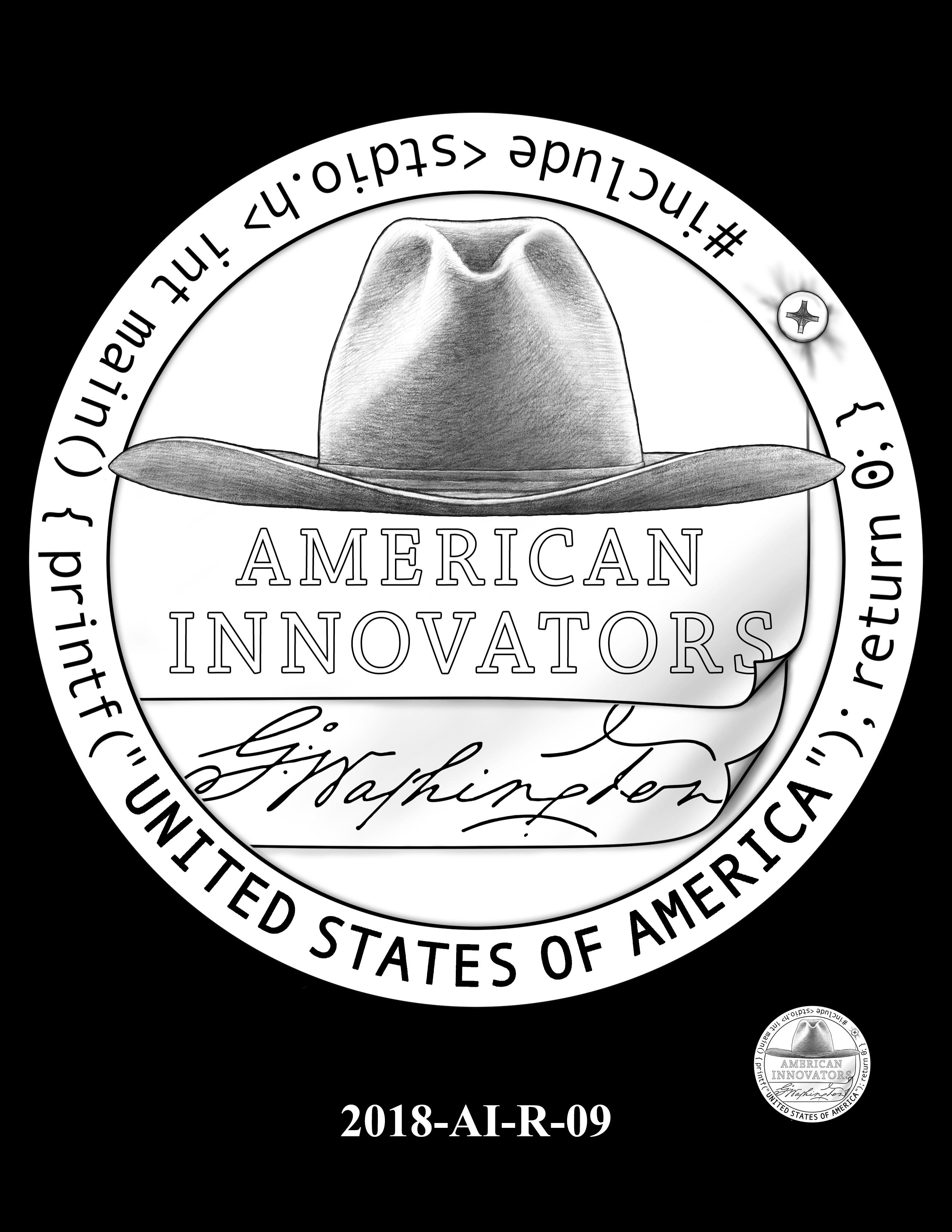 2018-AI-R-09 -- 2018 American Innovation $1 Coin