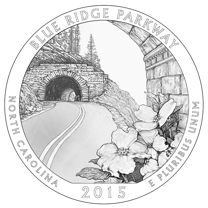 2015 Blue Ridge Parkway North Carolina Quarter Reverse
