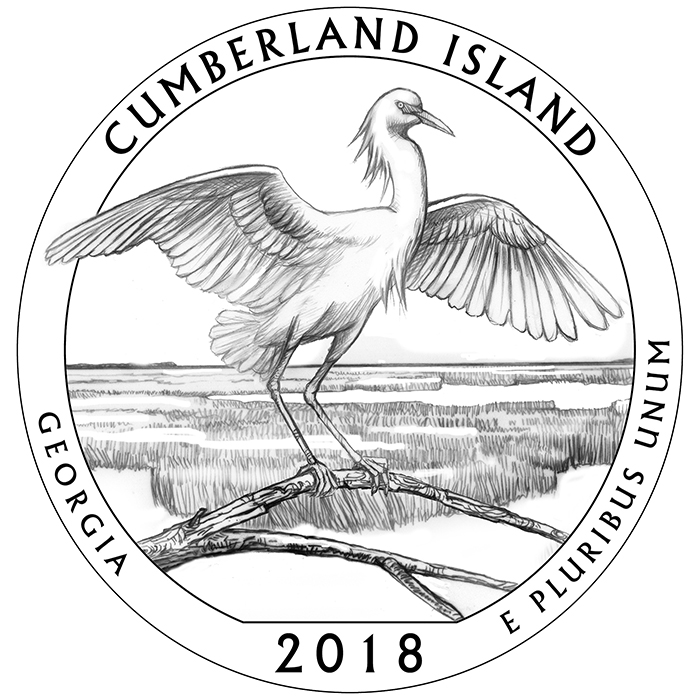 2018 Cumberland Island Georgia Quarter Reverse