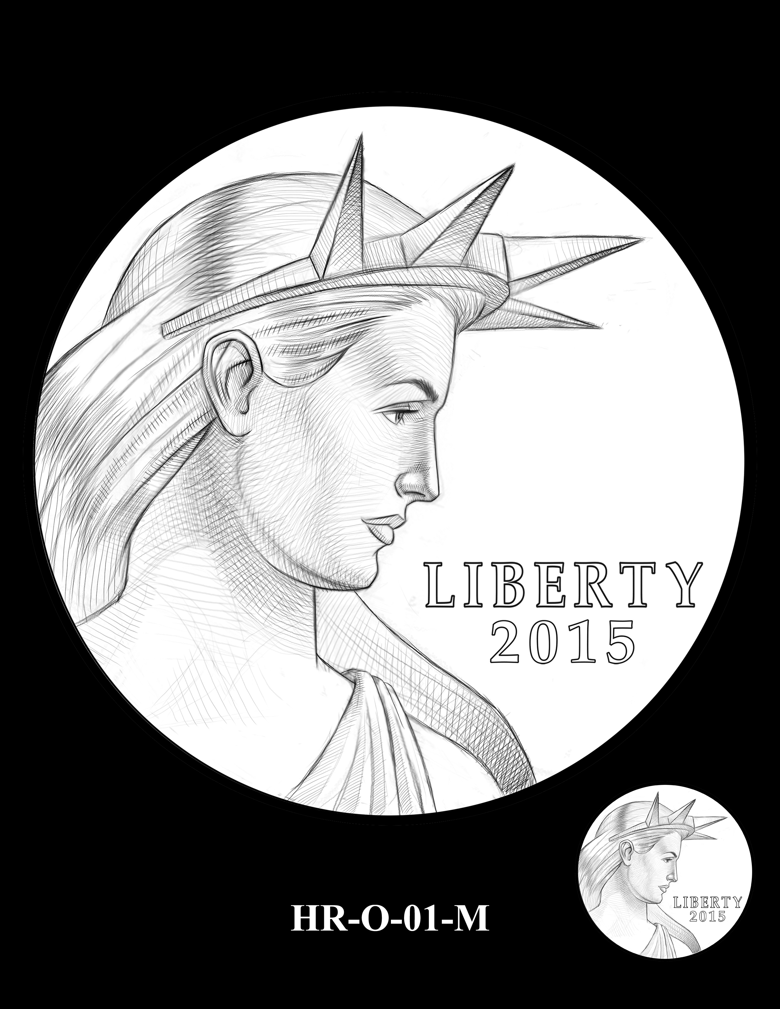 HR-O-01-M -- 2019 American Liberty High Relief 24k Gold Coin/Silver Medal