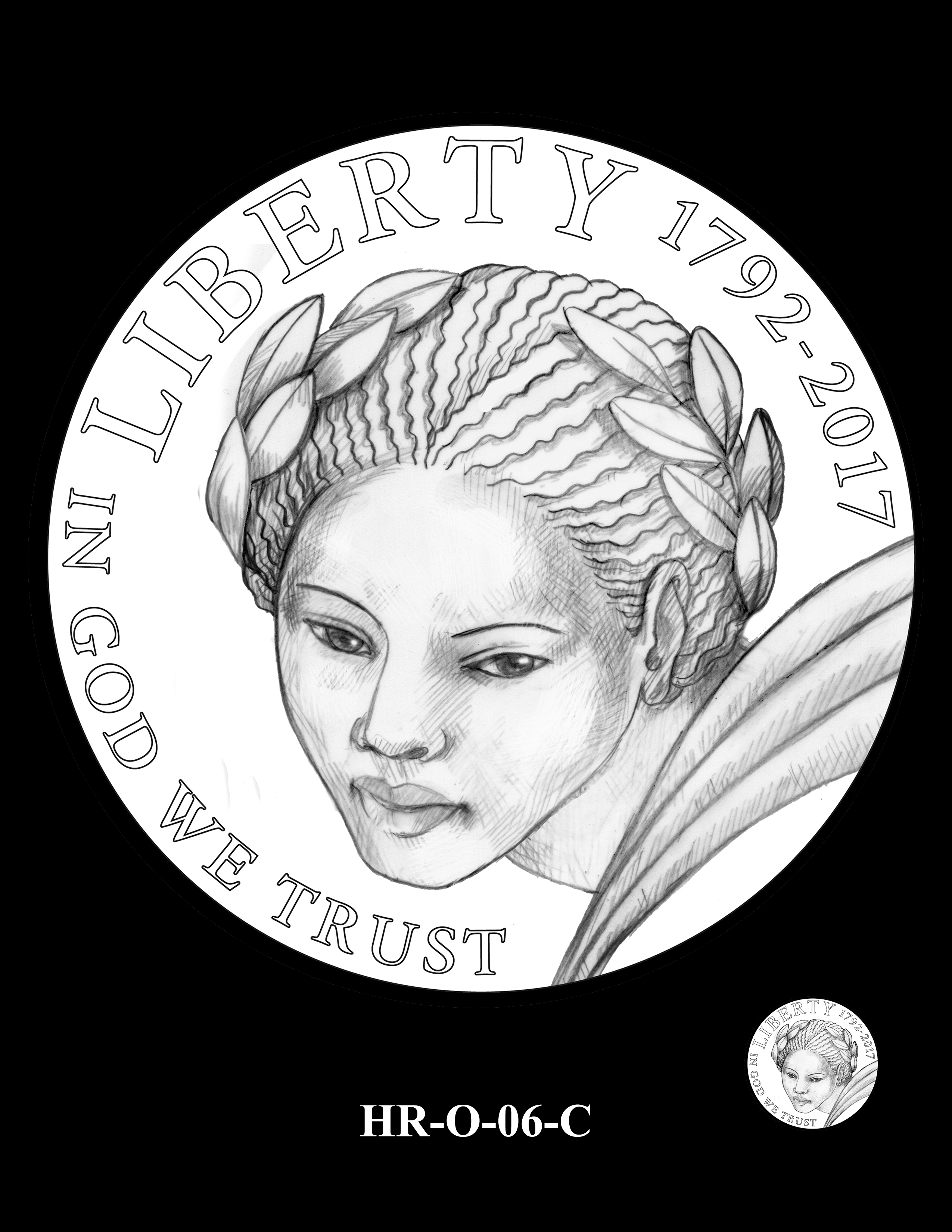 HR-O-06-C -- 2019 American Liberty High Relief 24k Gold Coin/Silver Medal