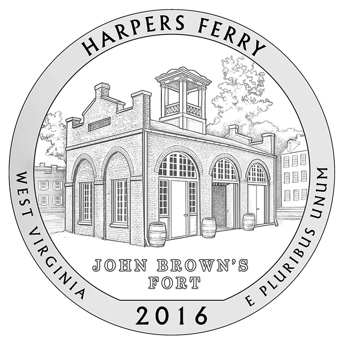 2016 Harpers Ferry West Virginia Quarter Reverse