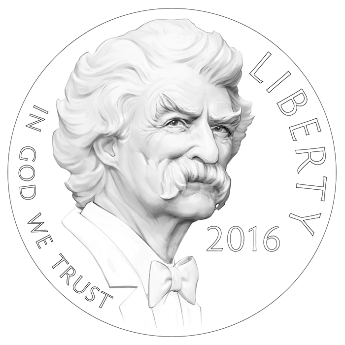 2016 Mark Twain Commemorative Gold Obverse