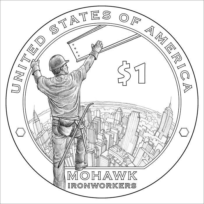 2015 Native American $1 Reverse
