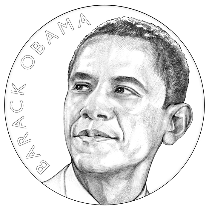 Barack Obama Term 1 Presidential Medal Obverse