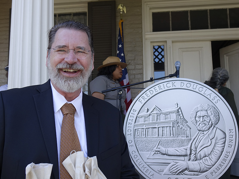 Thomas at the Frederick Douglass quarter launch.