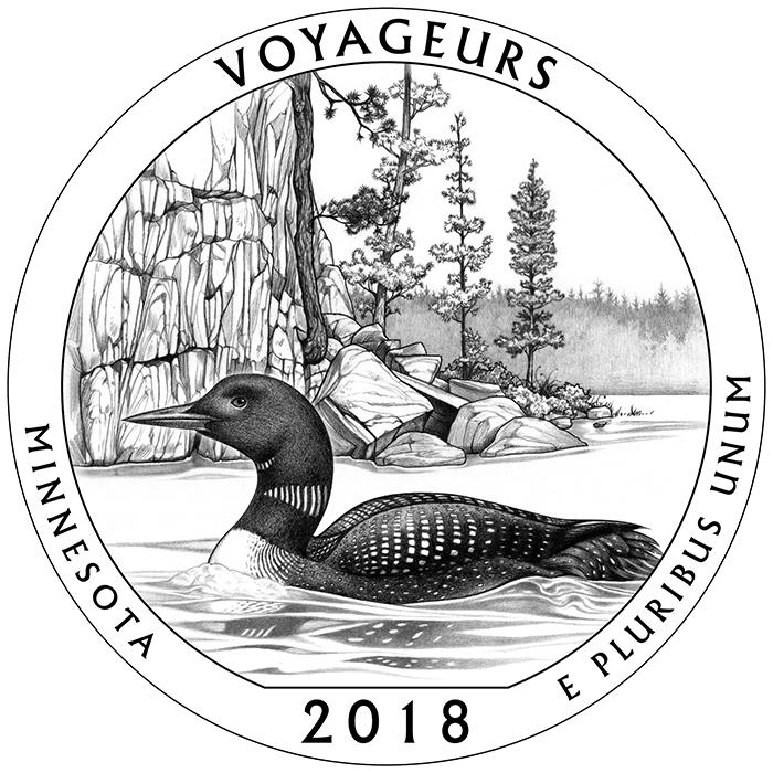 2018 Voyageurs Minnesota Quarter Reverse