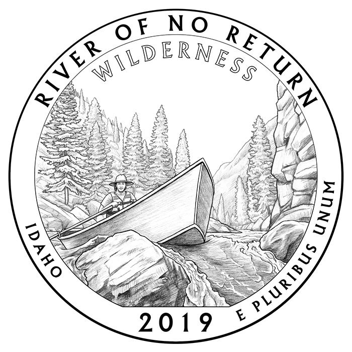 2019 Frank Church River of No Return Wilderness Idaho Quarter Reverse