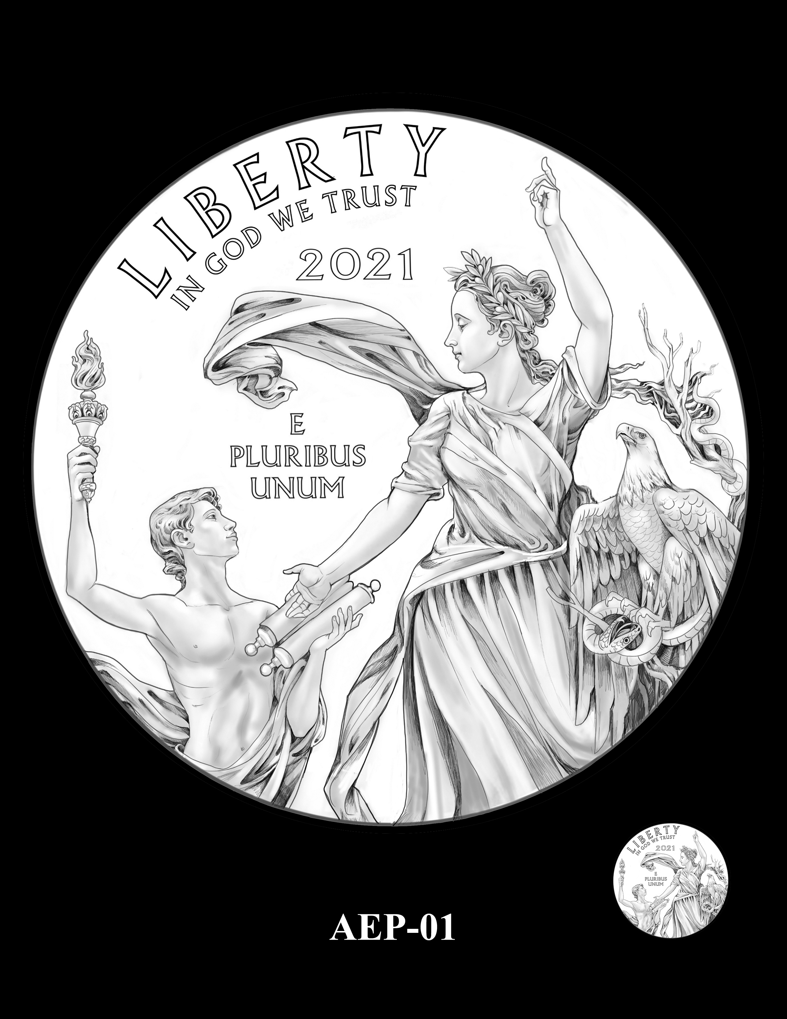 AEP-01 -- 2021 American Eagle Platinum Proof Program