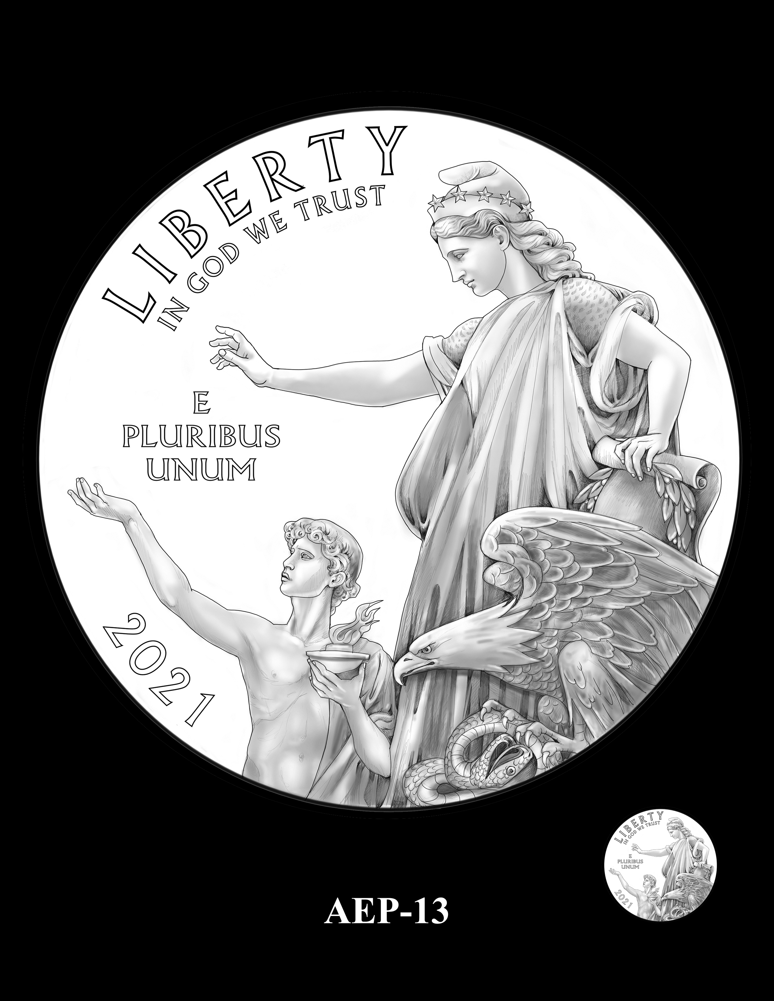 AEP-13 -- 2021 American Eagle Platinum Proof Program