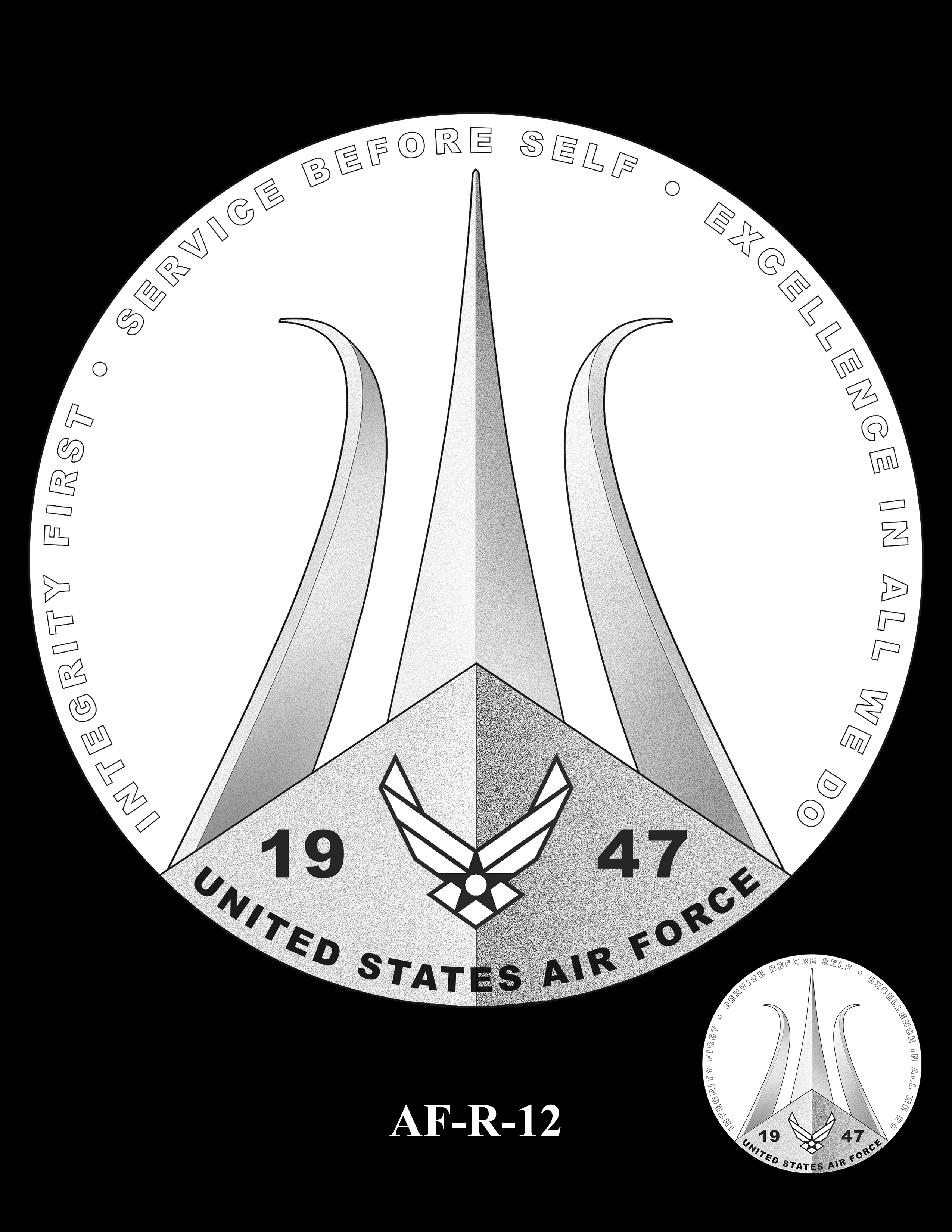 AF-R-12 -- Armed Forces Medal - Air Force