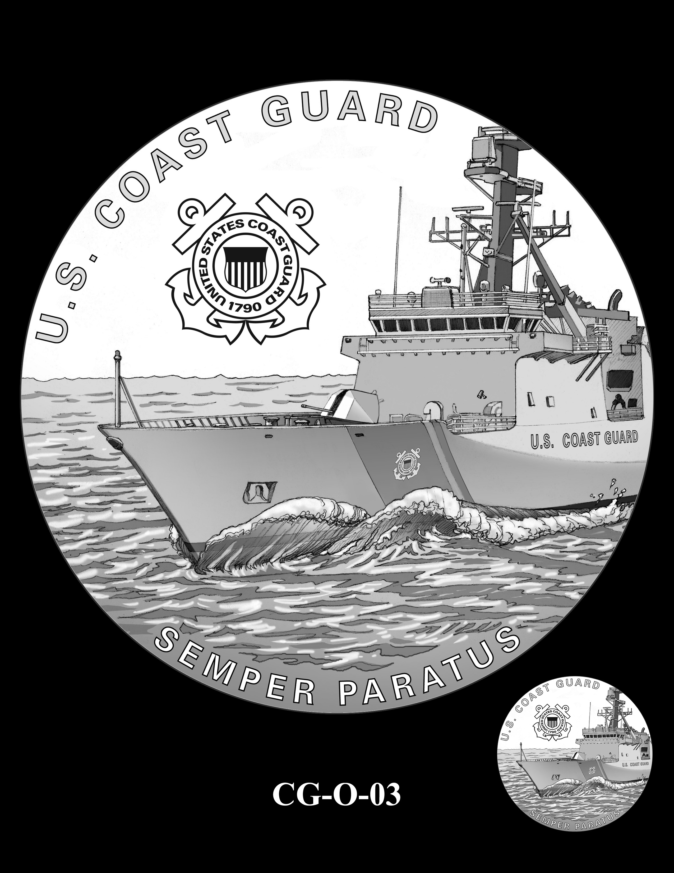 CG-O-03 -- Armed Forces Medal - Coast Guard