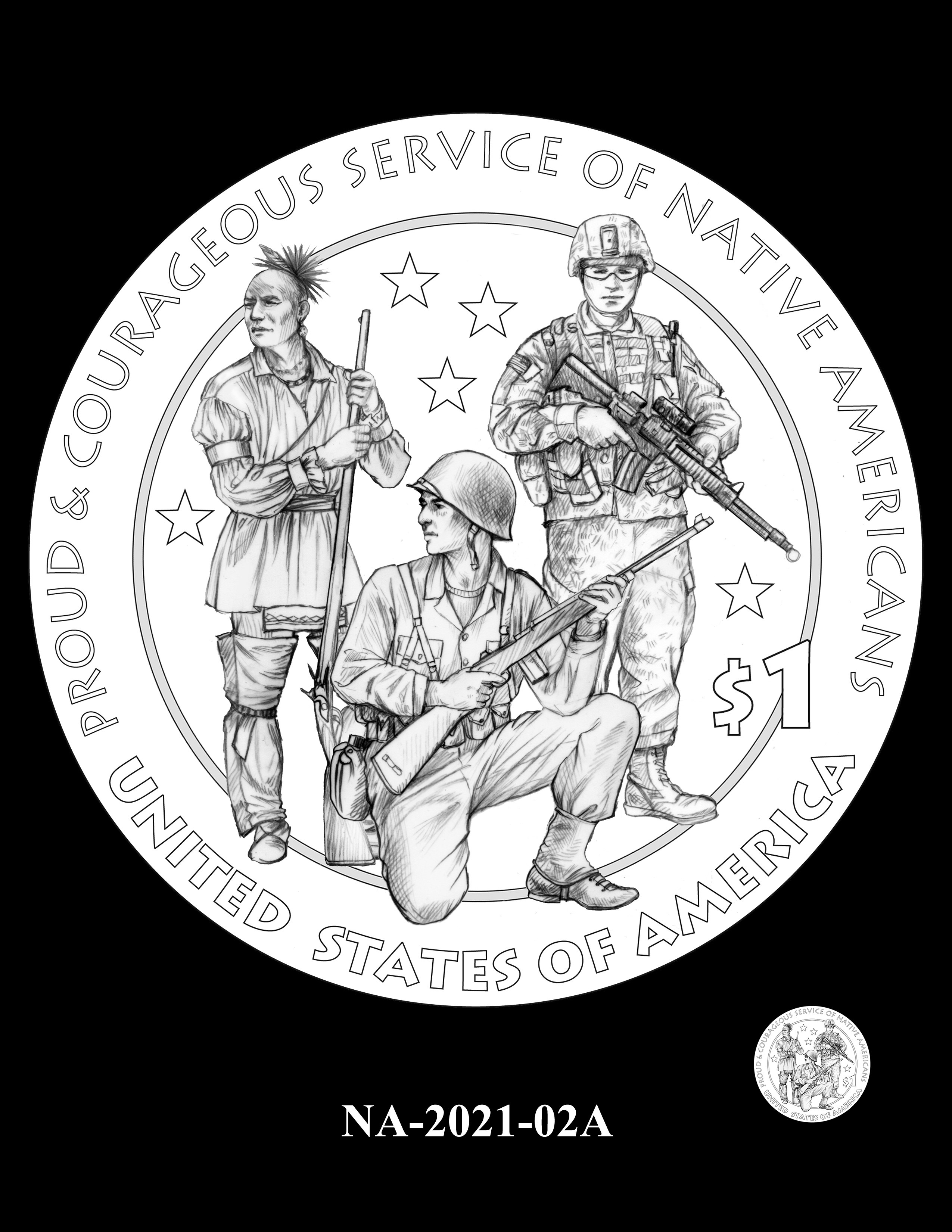NA-2021-02A-- 2021 Native American $1