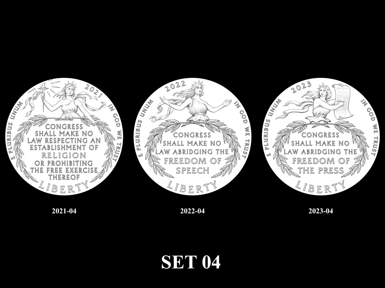 SET-04 -- 2021 - 2025 American Eagle Platinum Proof Program