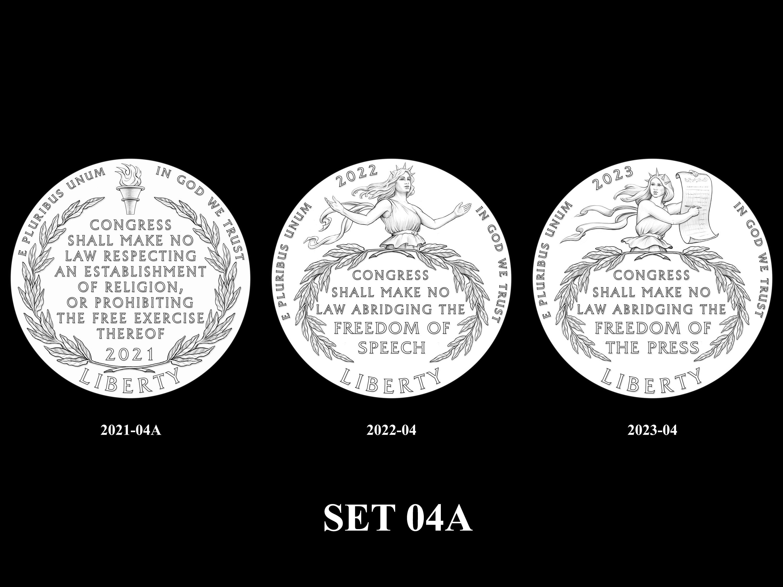 SET-04A -- 2021 - 2025 American Eagle Platinum Proof Program