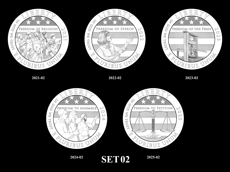 SET-02 -- 2021 - 2025 American Eagle Platinum Proof Program