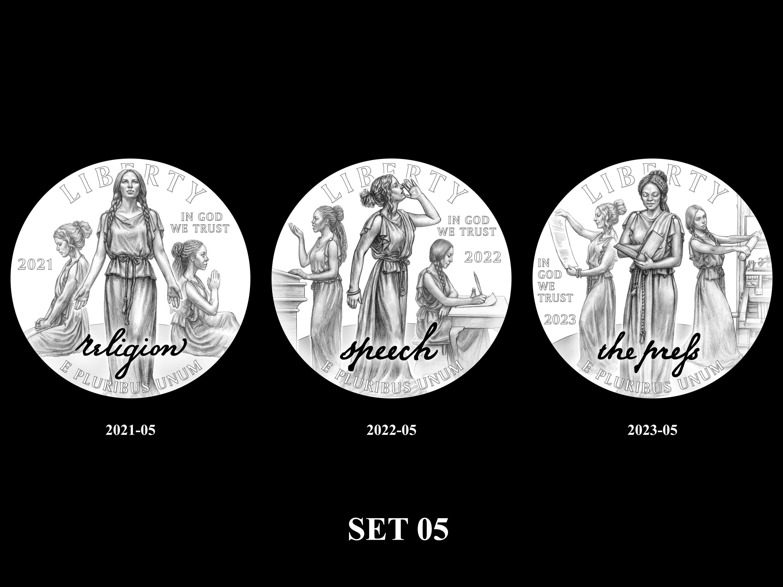 SET-05 -- 2021 - 2025 American Eagle Platinum Proof Program