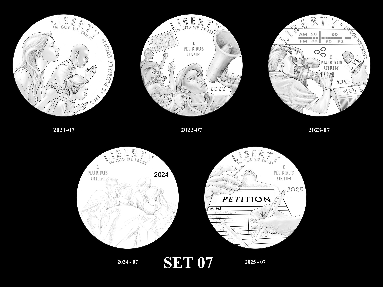 SET-07 -- 2021 - 2025 American Eagle Platinum Proof Program