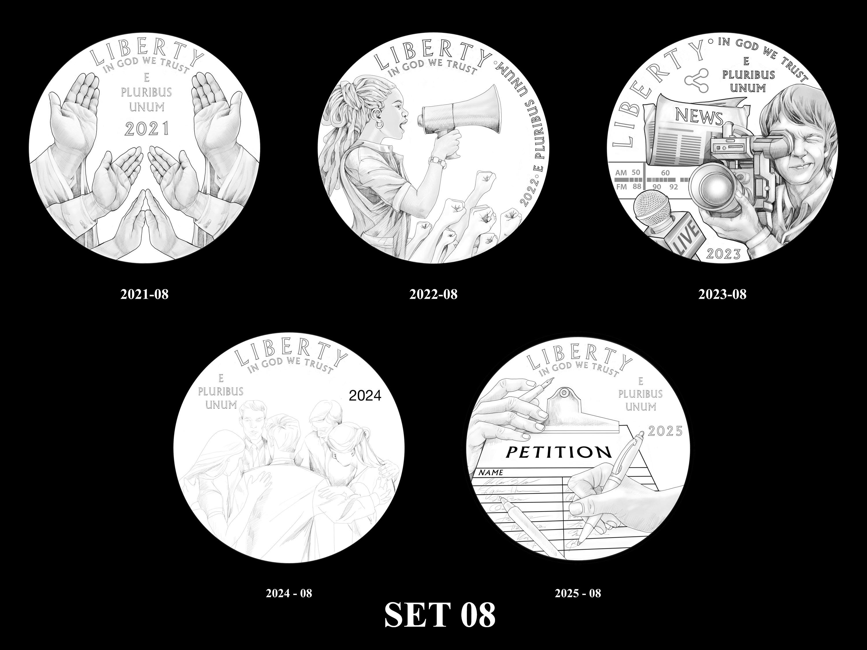 SET-08 -- 2021 - 2025 American Eagle Platinum Proof Program