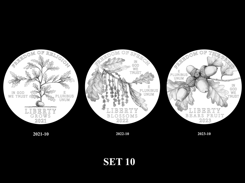 SET-10 -- 2021 - 2025 American Eagle Platinum Proof Program