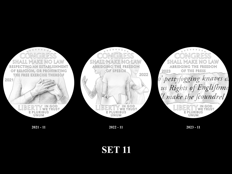 SET-11 -- 2021 - 2025 American Eagle Platinum Proof Program
