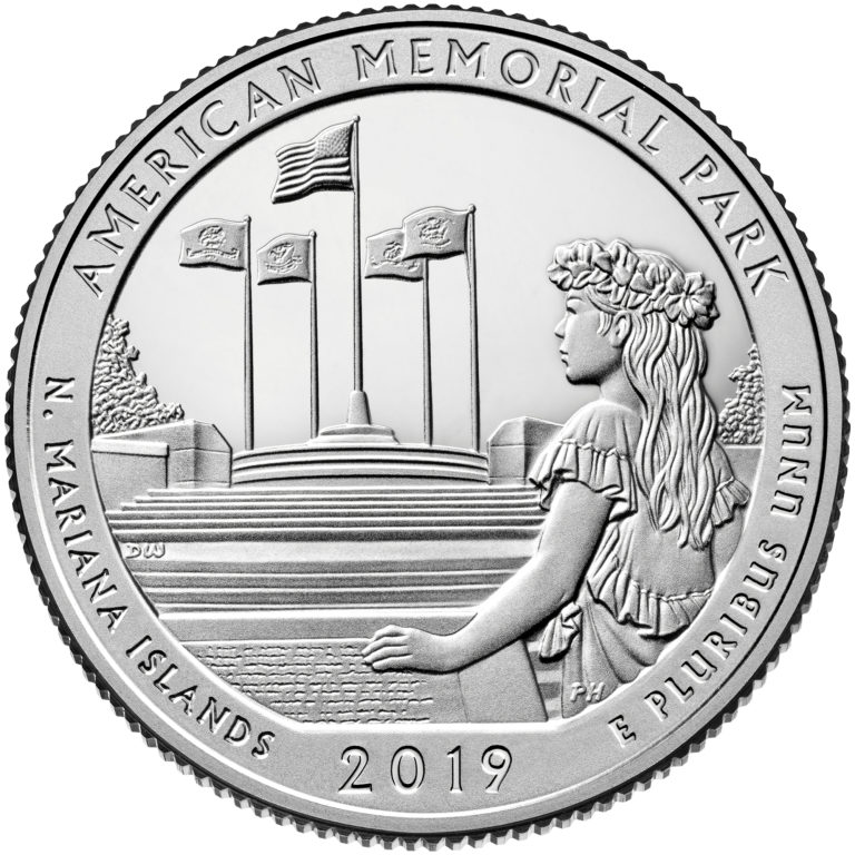 2019 America the Beautiful Quarters Coin American Memorial Park Northern Mariana Islands Proof Reverse