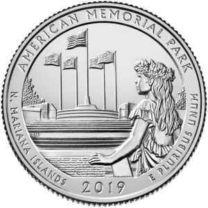 2019 America the Beautiful Quarters Coin American Memorial Park Northern Mariana Islands Uncirculated Reverse