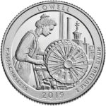 2019 America the Beautiful Quarters Coin Lowell Massachusetts Proof Reverse
