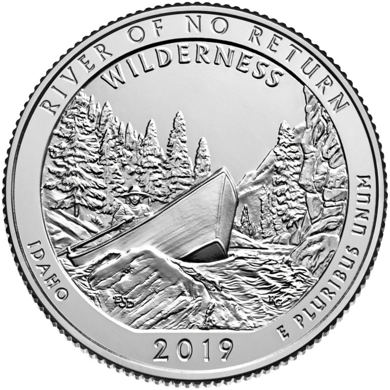 2019 America the Beautiful Quarters Coin River of No Return Wilderness Idaho Uncirculated Reverse