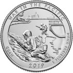 2019 America the Beautiful Quarters Coin War in the Pacific Guam Uncirculated Reverse