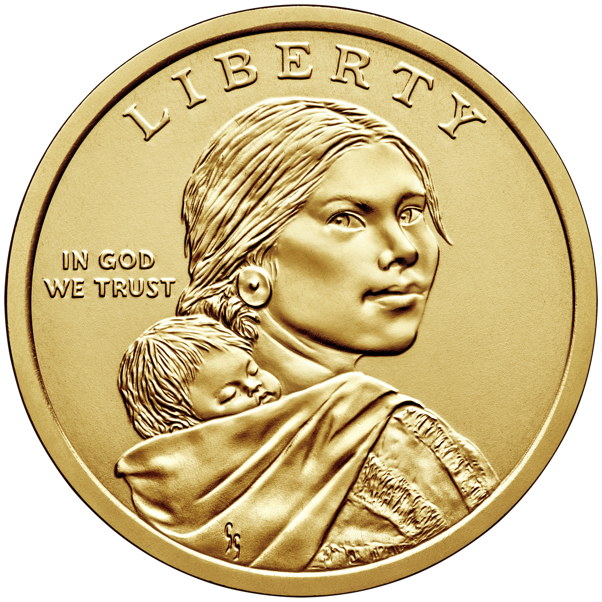 2019 Native American One Dollar Uncirculated Obverse