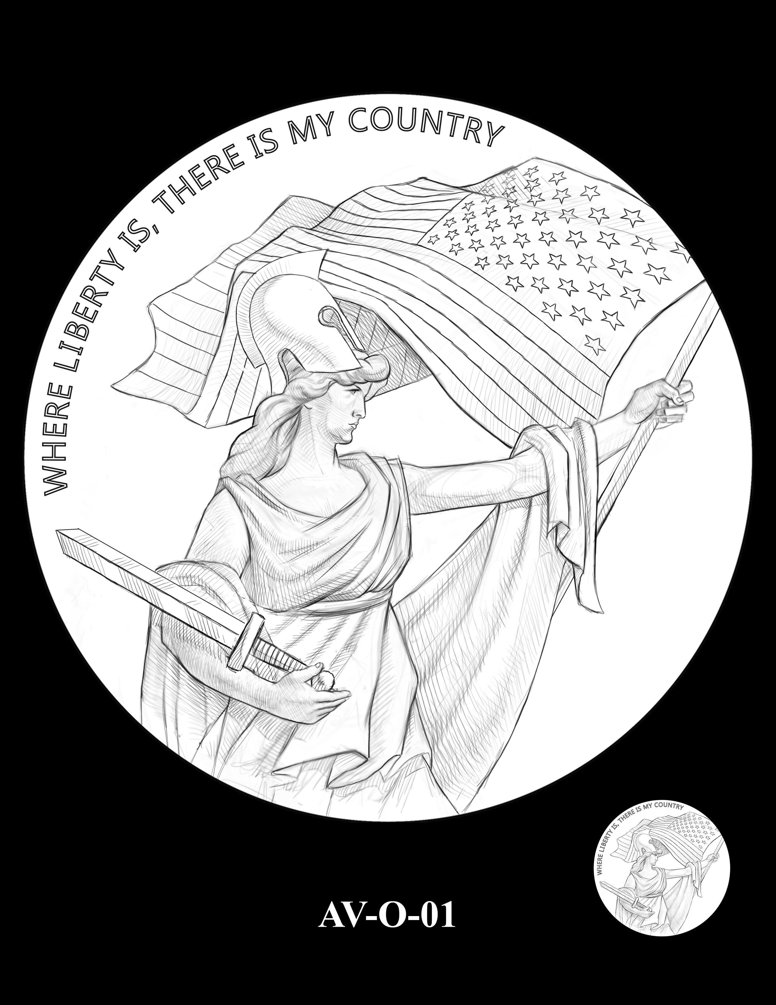 AV-O-01 - American Veterans Medal