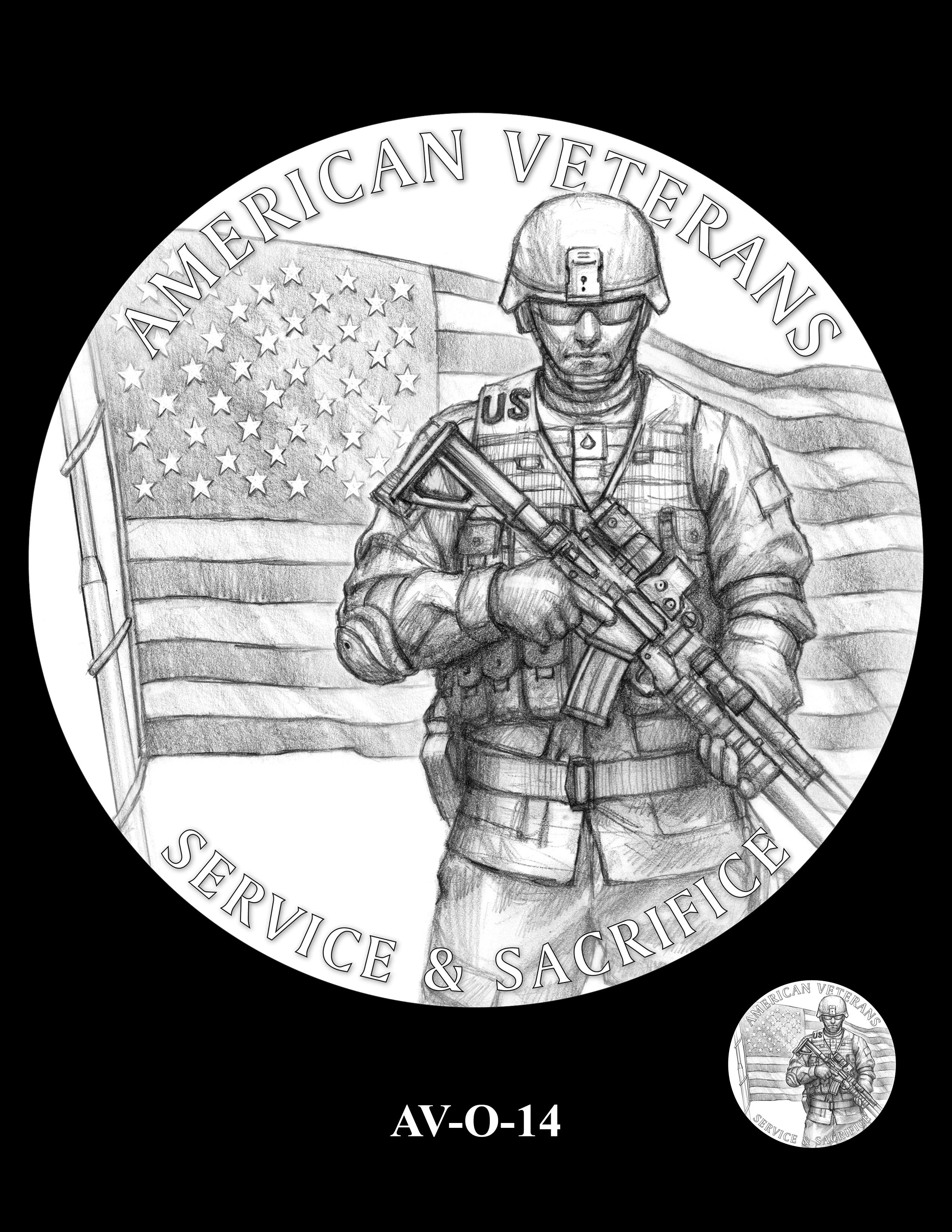 AV-O-14 - American Veterans Medal