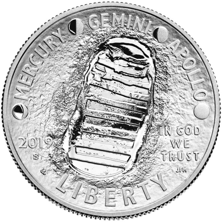 2019 Apollo 11 50th Anniversary Commemorative Clad Proof Half Dollar Obverse