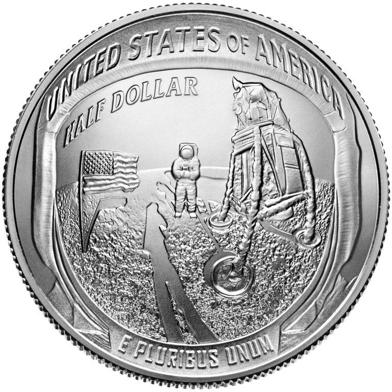 2019 Apollo 11 50th Anniversary Commemorative Clad Uncirculated Half Dollar Reverse