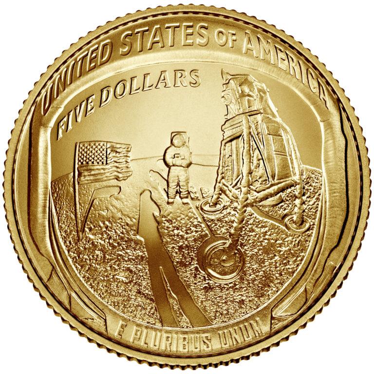 The 2019 Apollo 11 50th Anniversary Commemorative Coin Program celebrates the Apollo 11 Moon landing.