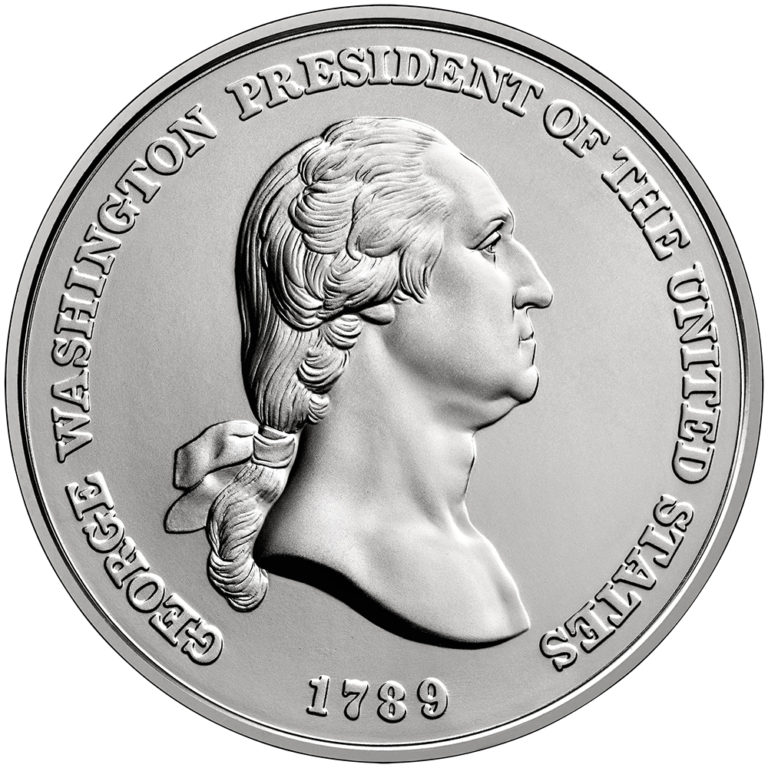 George Washington Presidential Silver Medal Obverse