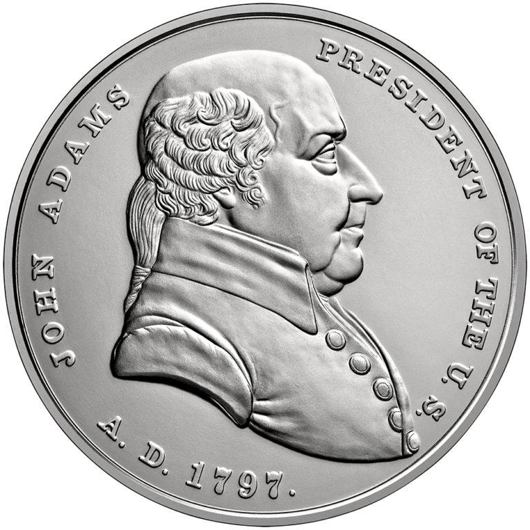 John Adams Presidential Silver Medal Obverse
