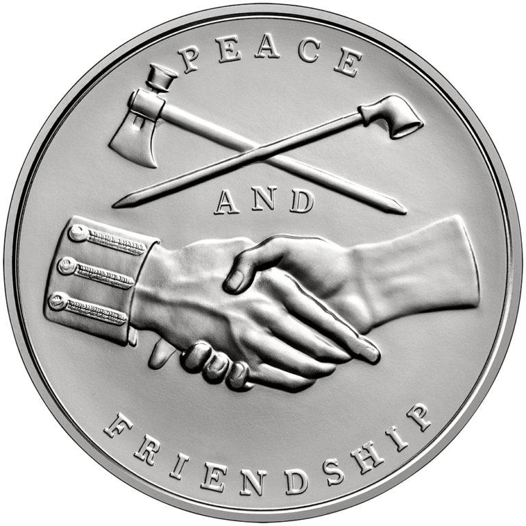 John Adams Presidential Silver Medal Reverse