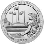 2019 America the Beautiful Quarters Five Ounce Silver Bullion Coin American Memorial Park Northern Mariana Islands Reverse