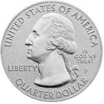 2019 America the Beautiful Quarters Five Ounce Silver Uncirculated Coin Obverse