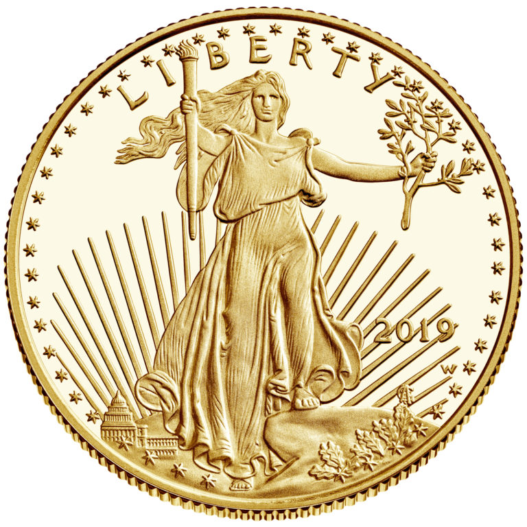 2019 American Eagle Gold Half Ounce Proof Coin Obverse