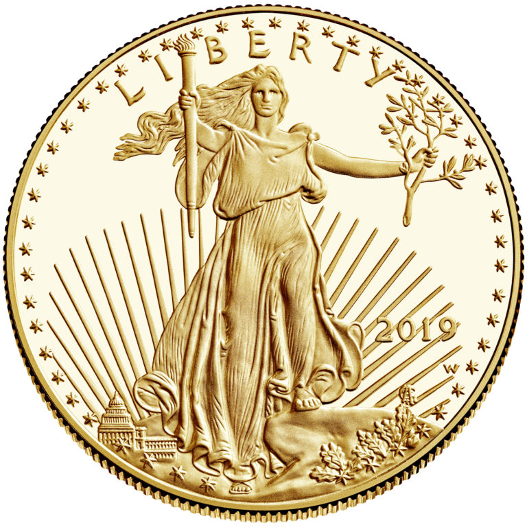 2019 American Eagle Gold One Ounce Proof Coin Obverse