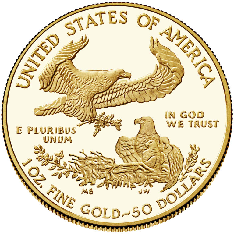 2019 American Eagle Gold One Ounce Proof Coin Reverse