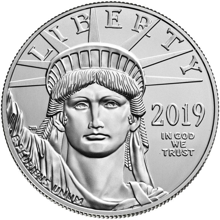 2019 American Eagle Platinum One Ounce Bullion Coin Obverse