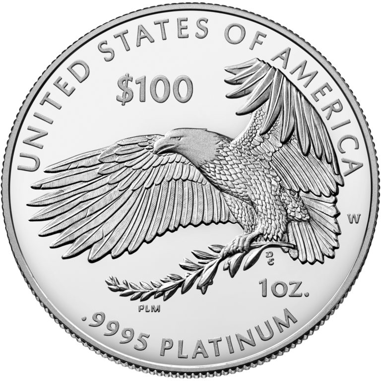 2019 American Eagle Platinum One Ounce Proof Coin Reverse
