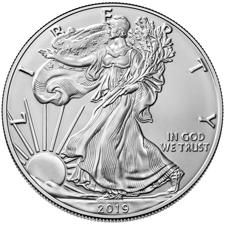 2019 American Eagle Silver One Ounce Bullion Coin Obverse